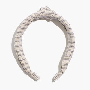 2 For 32⚡Madewell Knotted Covered Headband - Recyc